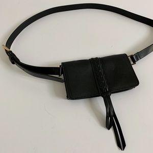 Tahari Black Leather Belt Bag